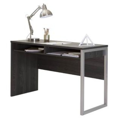 South Shore Desk with Storage in Gray Oak