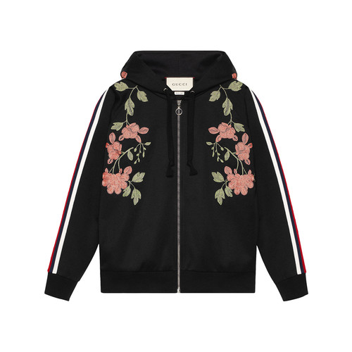 GUCCI Embroidered Jersey Sweatshirt