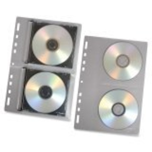 Fellowes 95304 CD/DVD Looseleaf Binder Sheet, 10-Pack