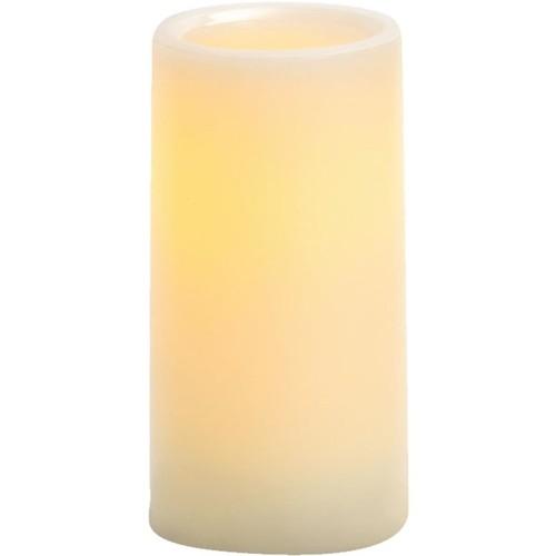 Inglow Cream Wax Pillar LED Flameless Candle - CGT54600CR01