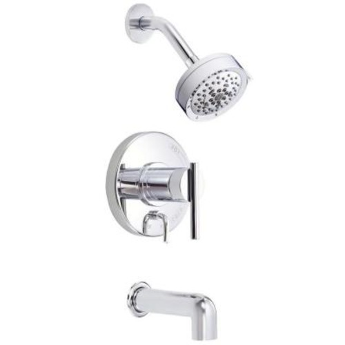 Danze Parma 1-Handle Pressure Balance Tub and Shower Faucet Trim Kit in Chrome (Valve Not Included)