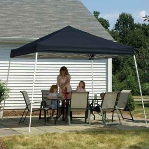 ShelterLogic 12'x12' Sport Pop-Up Canopy Slant Leg with Cover in Black