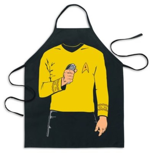 ICUP Star Trek Captain Kirk Be The Character Apron in Black
