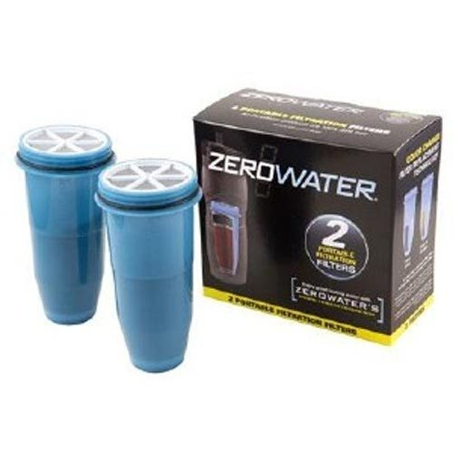 ZeroWater ZR-230 2 Pack Travel Bottle Replacement Filters