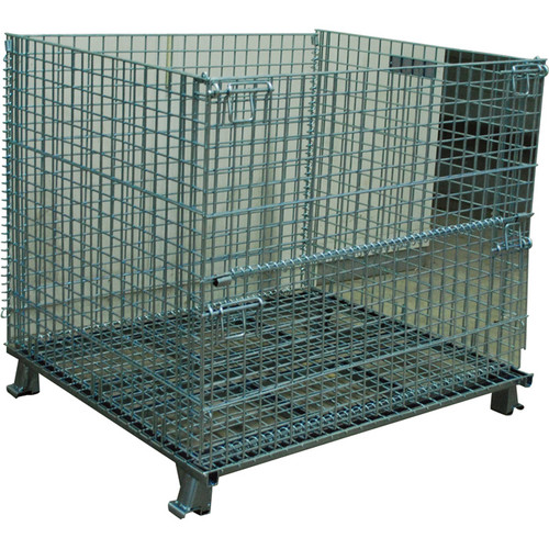 Atlas Collapsible Wire Mesh Extra-Large Basket  4000-Lb. Capacity