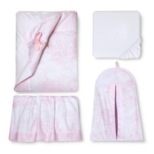 Sweet Jojo Designs 11pc Toile Crib Set - Pink