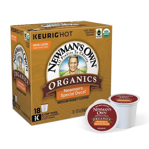 Keurig KCup Portion Pack Newman,s Own Special Decaf Coffee 18pk.