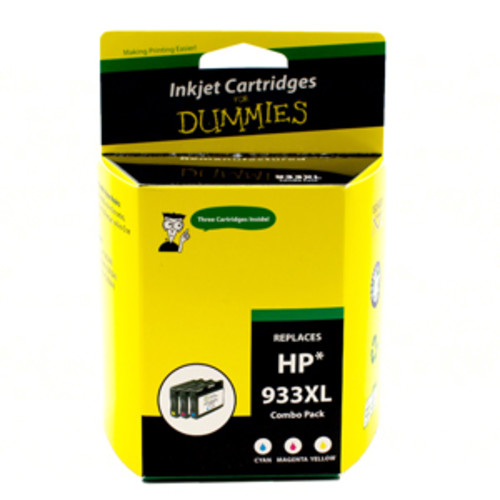Ink For Dummies for HP933XL - Tri-Color (Combo Pack)