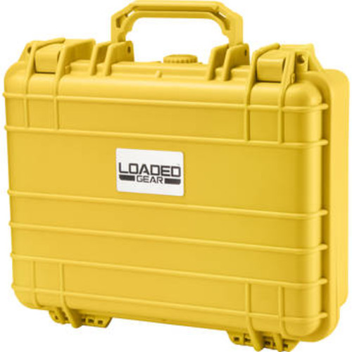 Barska Loaded Gear HD-200 Watertight Protective Hard Case with Foam, Yellow BH12670