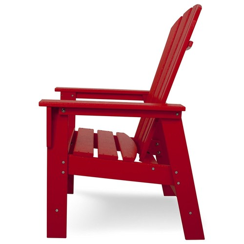 POLYWOOD SBD16SR South Beach Dining Chair, Sunset Red [Sunset Red]