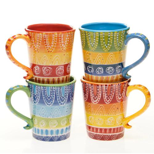 Certified International Tapas 18 Oz. Coffee Mug (Set of 4)