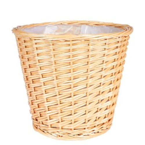 Household Essentials Medium Willow Waste Basket, Natural (ML-2312)