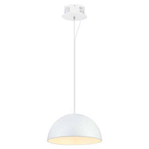 Eglo Bayman Mini Light Pendant with Chrome Finish and matte White Glass