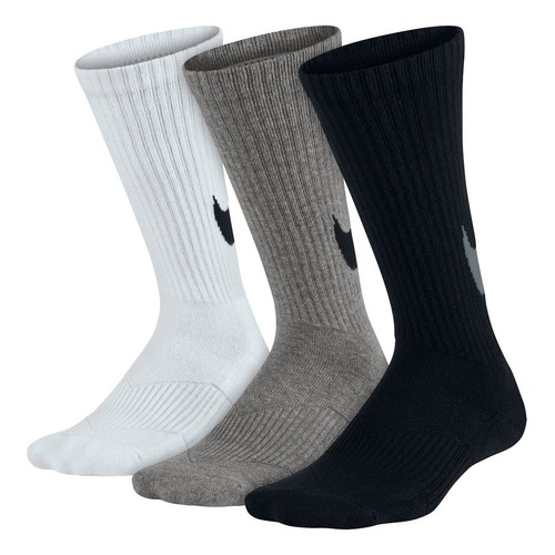 Kids Nike Graphic Cotton Cushion Crew Sock 3 pack
