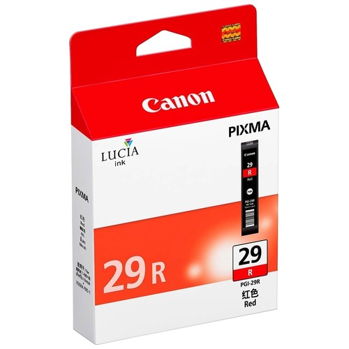 Canon - PagesI 29 Red Ink Tank Cartridge for The Pixma Pro 1 Inkjet Photo Printer - Red
