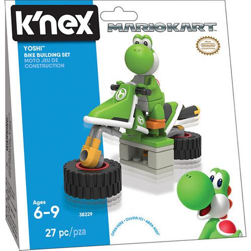 K'NEX Mario Kart - Yoshi Bike Building Set - 27 Pieces - Ages 6+ - Construction Toy