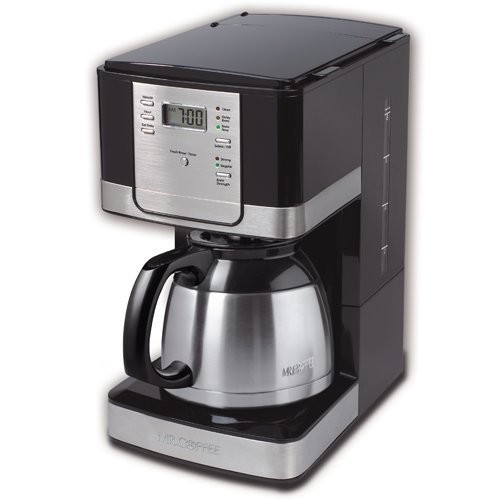 Mr. Coffee Advanced Brew 8-Cup Programmable Coffee Maker with Thermal Carafe, Black/Chrome [Chrome]