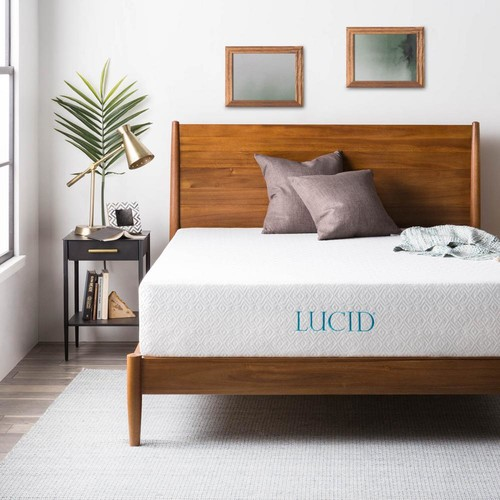 Lucid 12 in. King Dual Layer Memory Foam Mattress