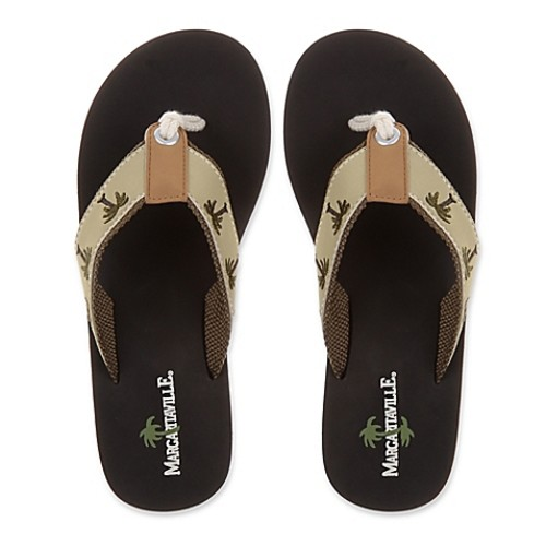 Margaritaville Size 7 Breezy Women's Flip Flop in Sand/Black