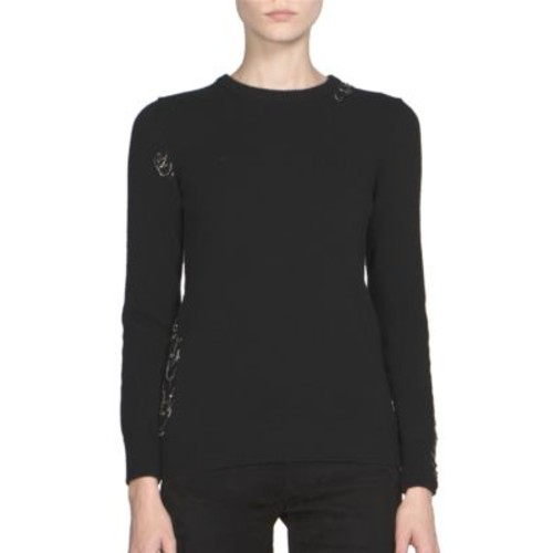 SAINT LAURENT Long Sleeve Cashmere Sweater