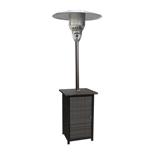 Hanover 7 Ft. 41,000 BTU Square Wicker PropanePatio Heater