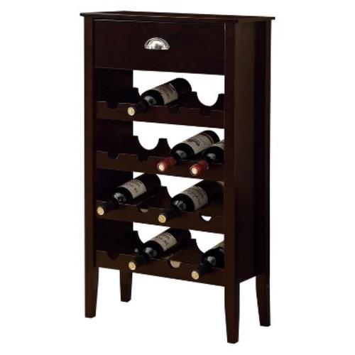 Cappuccino Wine Rack for 16 Bottles