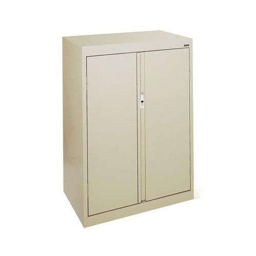 Sandusky Lee HF2F301842-04 System Series Counter Height Double Door Storage Cabinet with Fixed Shelves, Tropic Sand [Tropic Sand]