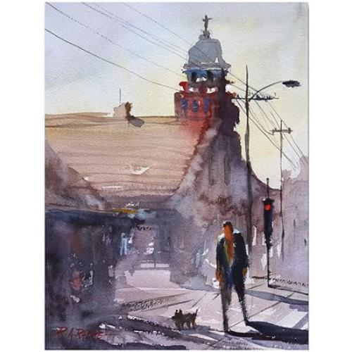 Ryan Radke Morning Stroll in Stevens Point Canvas Art