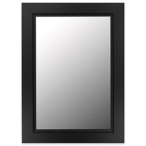 Hitchcock-Butterfield 30-Inch x 42-Inch Super Nuevo Mirror in Satin Black