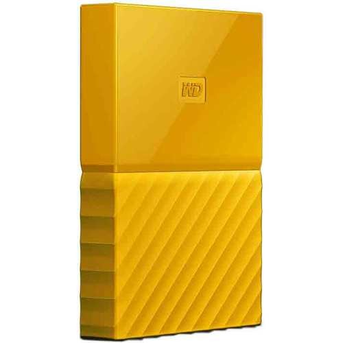 Western Digital WD 3TB My Passport Portable Hard Drive - Yellow