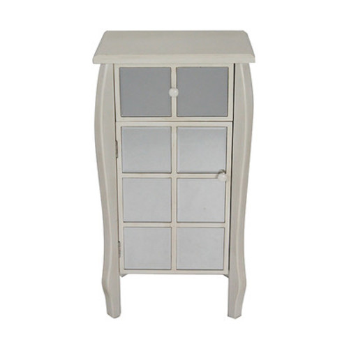 1 Drawer 1 Door Bombay Accent Cabinet [Finish : Smoke Silver]