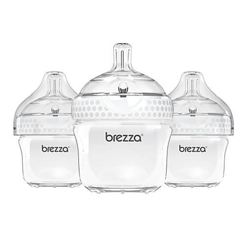 Baby Brezza 3-Pack 5-Ounce Polypropylene Bottle in White