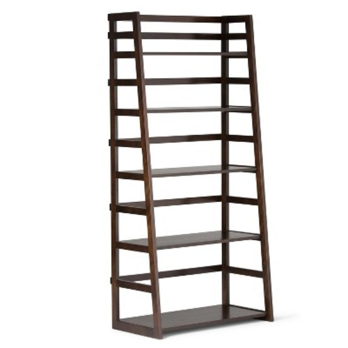 Acadian Ladder Shelf Bookcase Tobacco Brown - Simpli Home