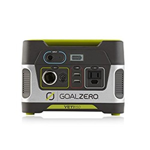 Goal Zero Yeti 150 Portable Power Station, 150Wh Small Generator Alternative with 12V, AC and USB Outputs [Yeti 150]