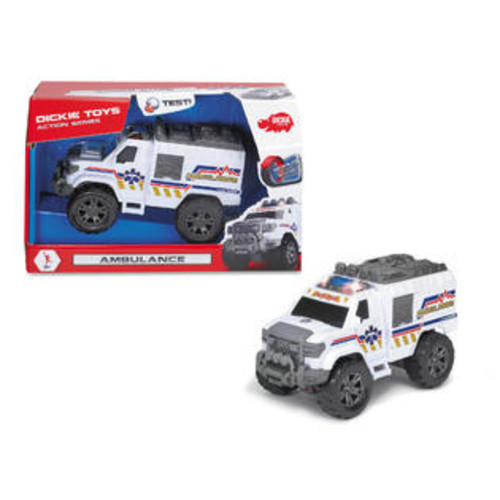 Dickie Toys Light and Sound Motorized Ambulance Vehicle