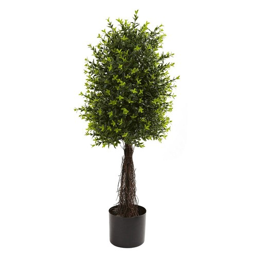 Nearly Natural 35'' Ixora Topiary, UV Resistant, Indoor and Outdoor
