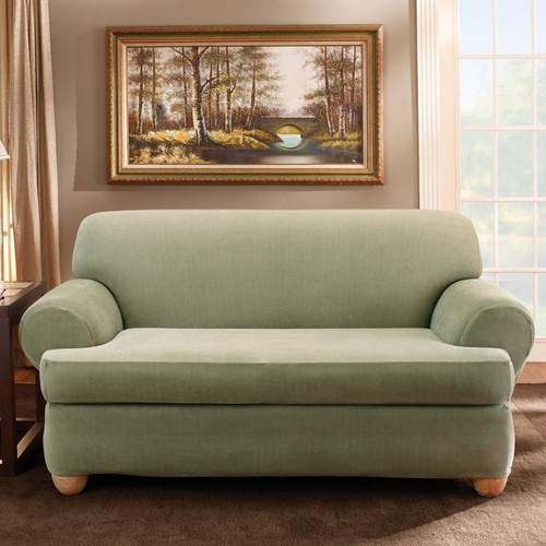 Sure Fit Striped T-Cushion Sofa Slipcover