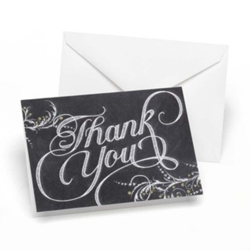 Chalkboard Thank You Notes (Cards)