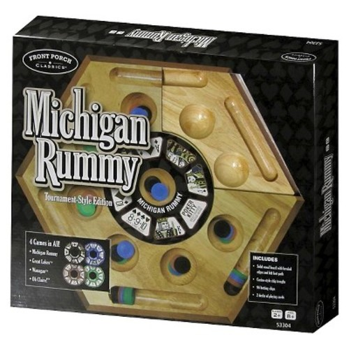 Front Porch Classics Michigan Rummy Tournament-Style Edition Game