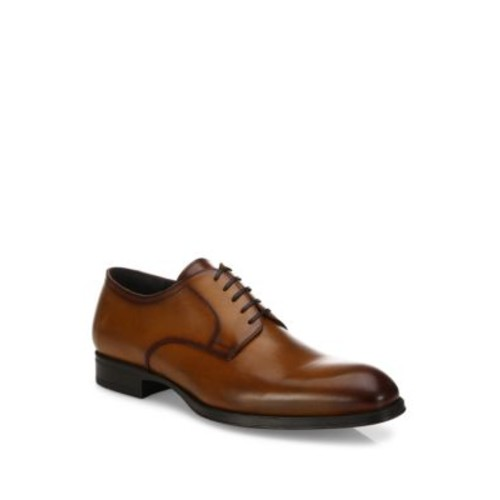 Burnished Toe Leather Oxfords