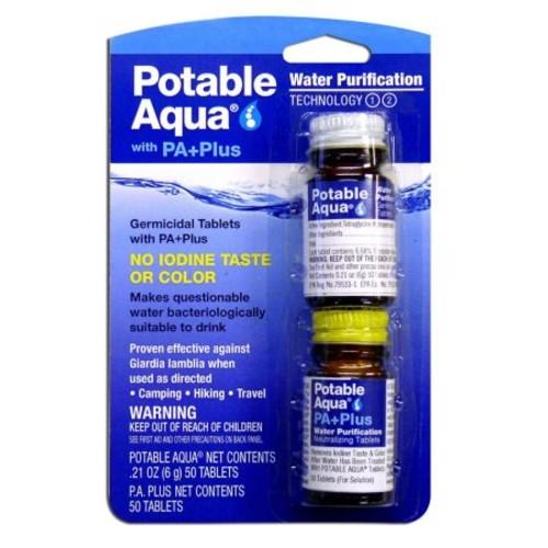 Potable Aqua Plus Water Purification Tablets