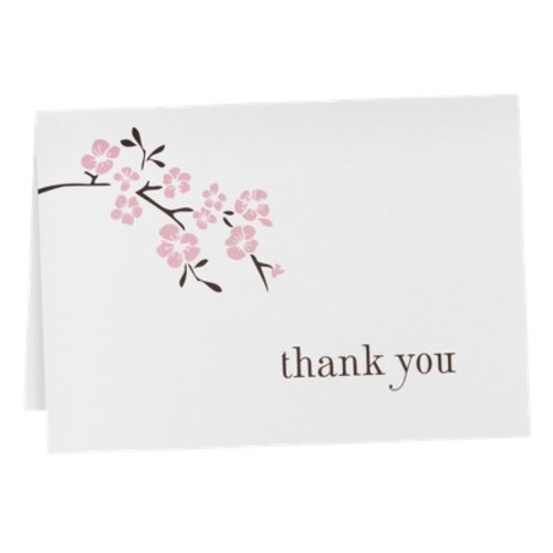 Cherry Blossom Thank You Cards (50 count)