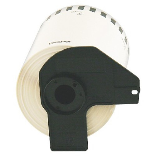 Brother : Continuous Length Shipping Label Tape for QL-1050, 4in x 100ft Roll, Black/White -:- Sold as 2 Packs of - 1 - / - Total of 2 Each