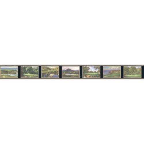 York Wallcoverings Book Courses 15' x 6'' Wallpaper Border