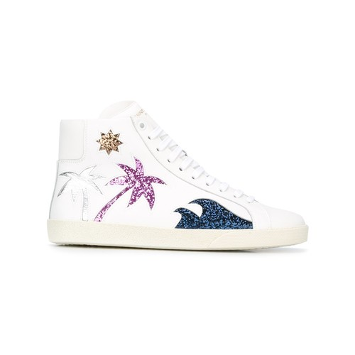 SAINT LAURENT 'Court Classic Sea, Sex & Sun' Hi-Top Sneakers