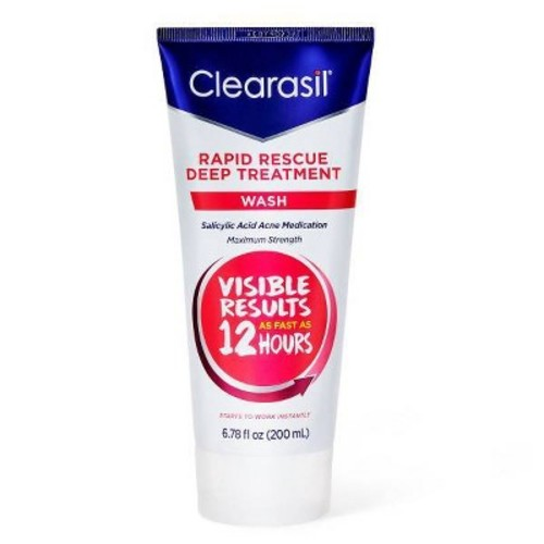 Clearasil Ultra Rapid Action Daily Face Wash Maximum Strength, 6.78 FL OZ