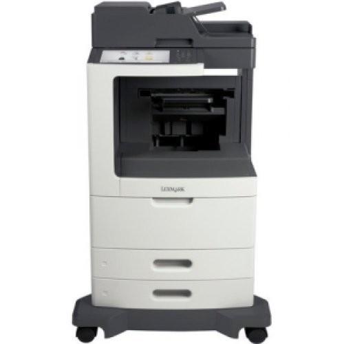 LEXMARK MX810DFE Laser Multifunction Printer - Monochrome / Copier/Fax/Printer/Scanner - 55 ppm Mono Print - 1200 x 1200 dpi Print - 55 cpm Mono Copy - Touchscreen - 600 dpi Optical Scan - Automatic Duplex Print - 1200 sheets Input - Gigabit Ethernet - USB / 24T7408 /
