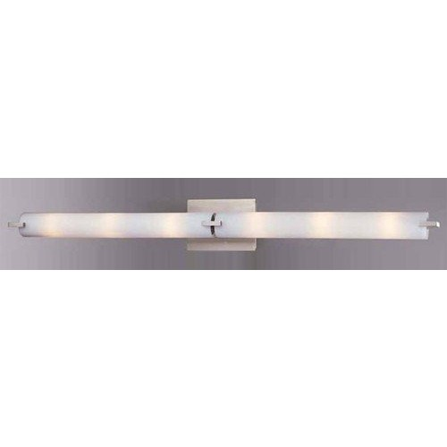 George Kovacs P5046-084, Tube Glass Wall Vanity Lighting, 6 Light Halogen, Brushed Nickel