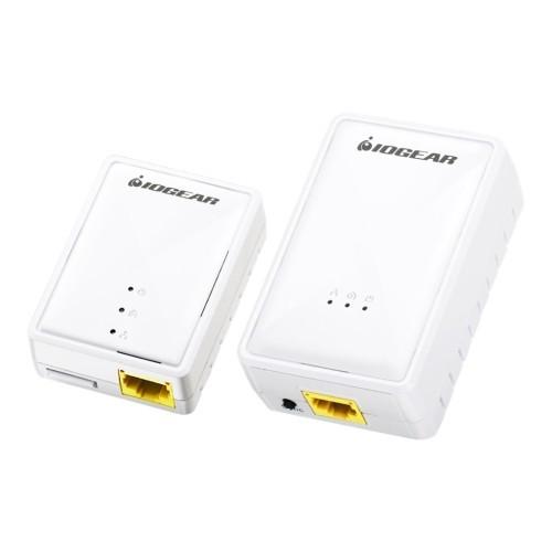 Iogear Powerline Wireless Extender Kit - Bridge - HomePlug 1.0, HomePlug AV (HPAV) - 2.4 GHz - wall-pluggable (GPLWEKIT)