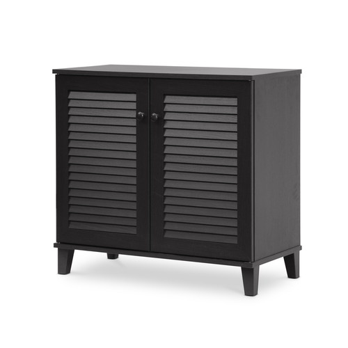 Baxton Studio Coolidge Espresso Shoe-Storage Cabinet
